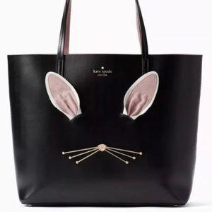 Kate Spade Bunny Black Tote NEW